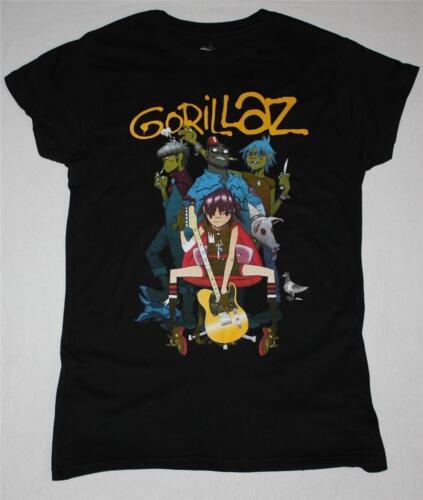 GORILLAZ BAND ALTERNATIVE HIP HOP ROCK BRIT BAND BLUR  NEW BLACK LADY T-SHIRT