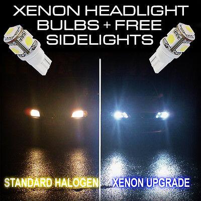 Ford Fiesta MK5 Green 4-LED Xenon Bright Side Light Beam Bulbs Pair Upgrade