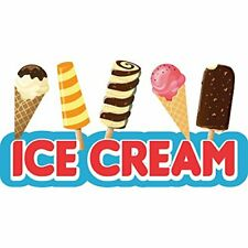 Ice Cream 2 48 Concession Decal Sign Cart Trailer Stand Sticker Equipment
