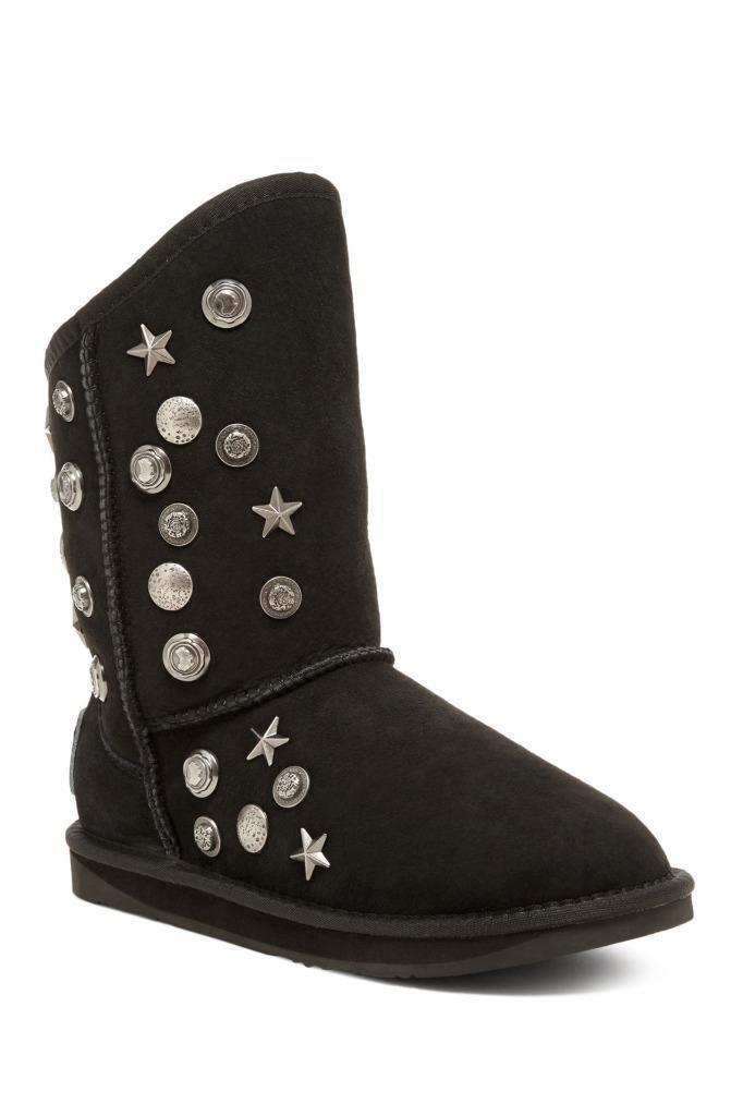 New in Box- 379 Australia Luxe Angel Black Shearling Sheepskin Boots Size 11 (42