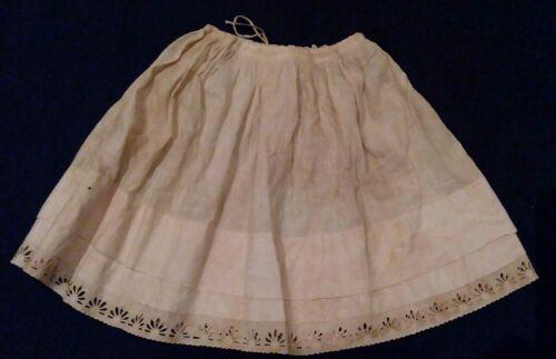 Antique Victorian Edwardian Petticoat Slip Cotton