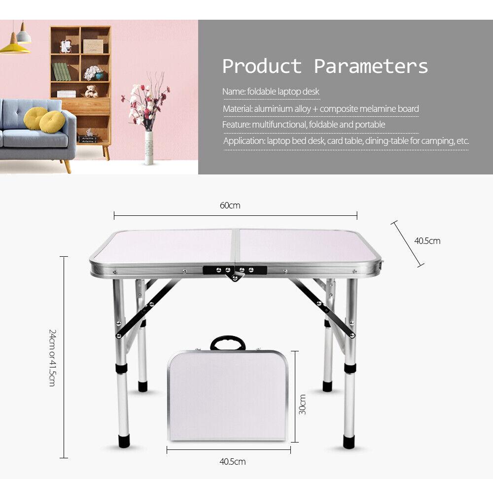 Mesa De Exteriores Ajustable Portátil finether Ultraliviano Plegable de Aluminio  de altura  comprar ahora
