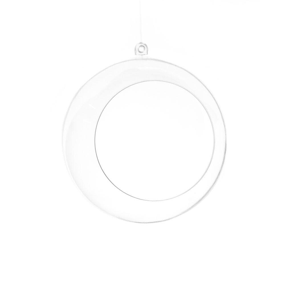 À remplir en Plastique Transparent Balle ornement avec ouverture, 4 pouces, 12-Count