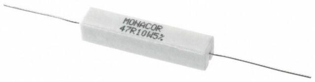 10 Watt 27 Ohm 5/% Widerstand Widerstände Lastwiderstand Aluminium Gehäuse