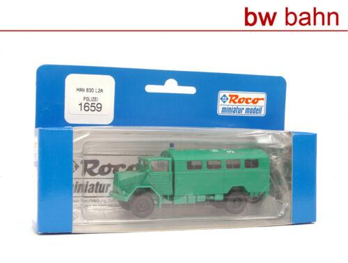 Roco miniatur H0 1659 MAN 630 L2A Transporter der Polizei Polizeiauto