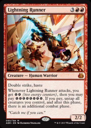 090//184 - Aether Revolt Lightning Runner Mythic Rare