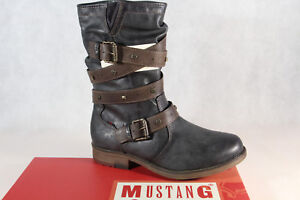 Mustang-Botines-Mujer-Botas-de-Invierno-Botas-Gris-1295-603-259-Nuevo