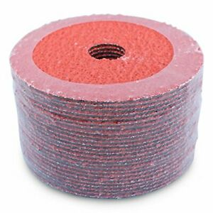 "4.5/"" Silicon Carbide Resin Fiber Discs 36 Grit 4-1//2 Inch Sanding Disc 25 Pack"