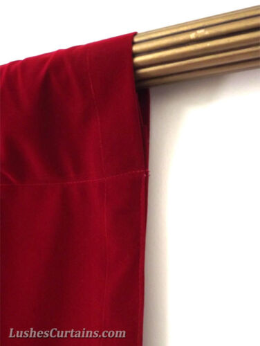 Home Theater Stage Backdrop Drapes Cherry Red Velvet 12 ft Curtain Long Panel