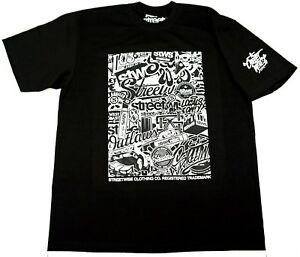 STREETWISE-STICKER-BOMB-T-shirt-Urban-Streetwear-Tee-Adult-Men-L-4XL-Black-NWT
