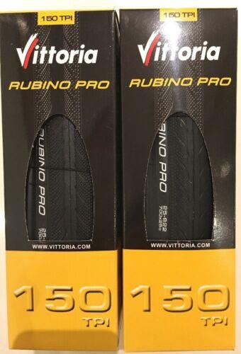 One Pair Vittoria Rubino Pro III Folding Road Tyres Clincher 700C x 25mm Black