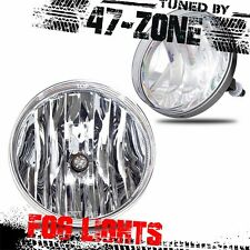 For 2007-2014 GMC Sierra Clear Lens Chrome Housing Pair Replacement Fog Lights