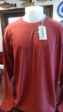 Men's OUTDOOR LIFE Long Sleeve Tee Shirt Big & Tall Size XXL Brick Color NEW