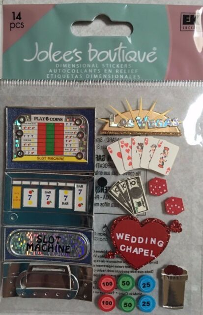 Jolee's Boutique 14 Dimensional Stickers Las Vegas Scrapbook Paper Craft  Travel