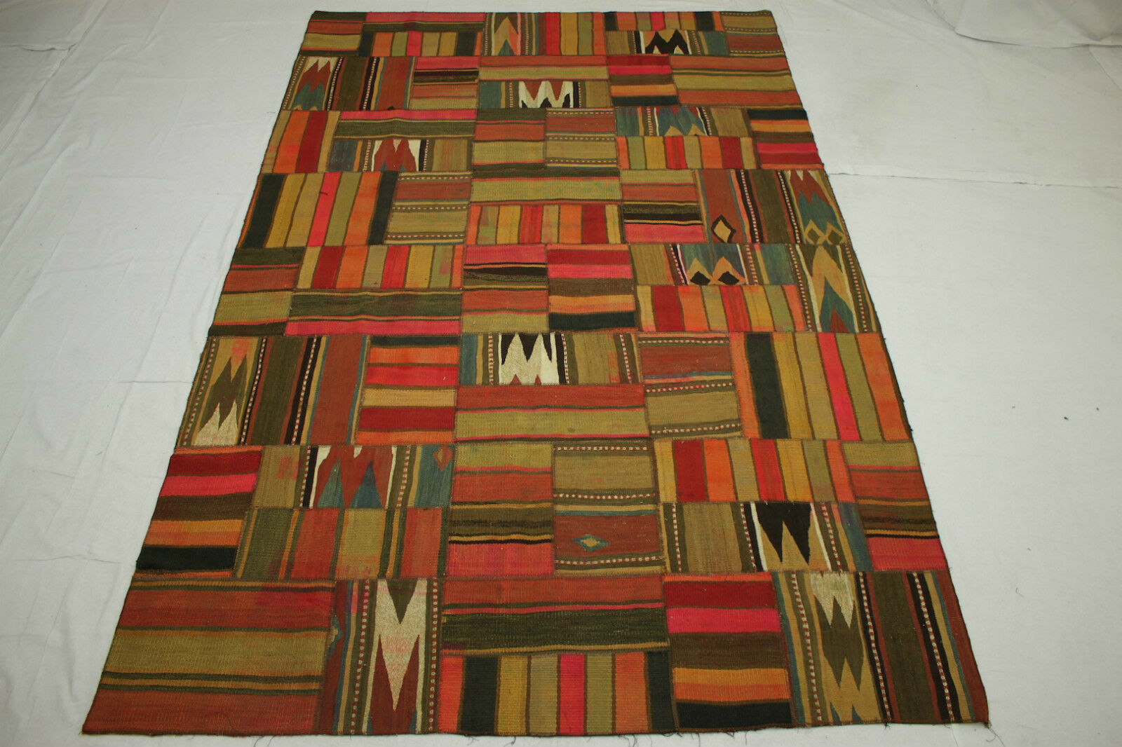 Orient alfombra vintage patchwork Designer Kilim 310x200 multiColor 2513 única
