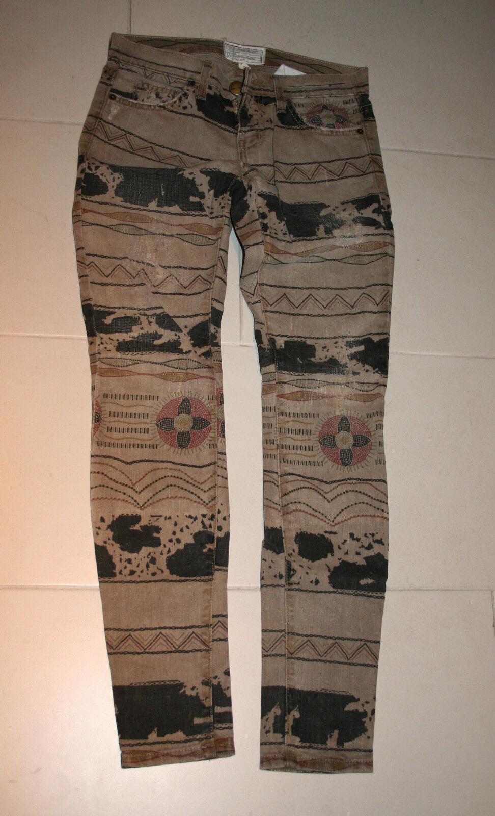 Current Elliott Jeans Gr.24 Beige Grau Muster Print SOLD OUT NP  SKINNY LEG