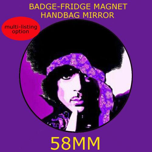 PRICE PURPLE IMAGE. 58 mm BADGE-FRIDGE MAGNET OR HANDBAG MIRROR CD22