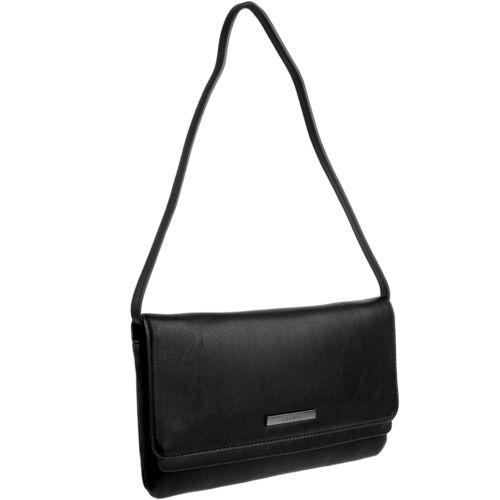 ESPRIT Damen Handtasche Schultertasche Tasche Schwarz Abendtasche Clutch Bag