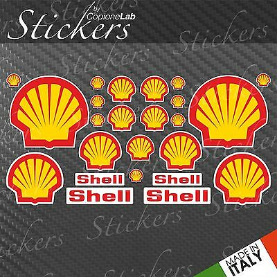 Shell Sponsor Style Decals Stickers Kit