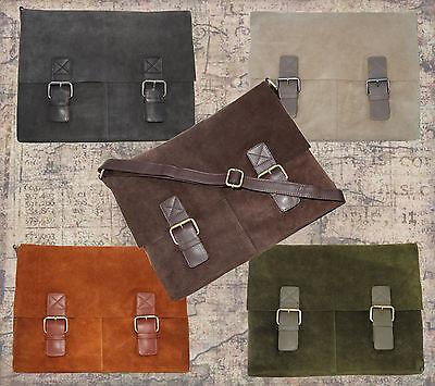 Pratica Senza Tempo Messenger Bag In 5 Colori Alla Moda Splendido Rauhleder-