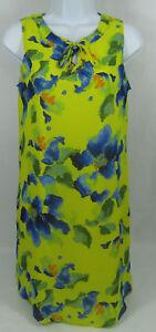 C-Dress-Women-039-s-Dress-Size-Small-Sleeveless-Shift-Floral-Yellow