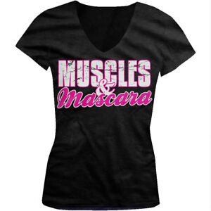 e04a14bd Image is loading Muscles-amp-Mascara-Strong-amp-Beautiful-Workout-Sayings-