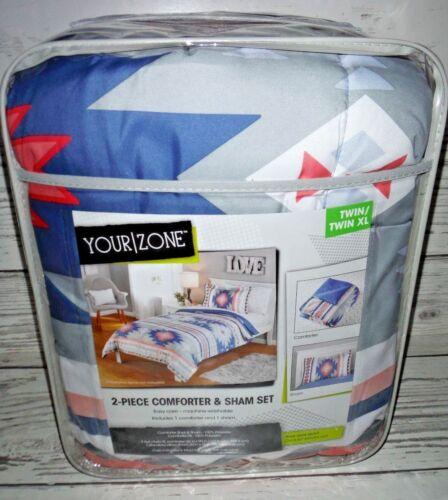 Your Zone Aztec Twin//Twin XL Comforter /& Sham Set