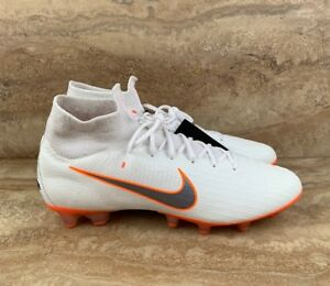 sale retailer c7248 1557d Nike Mercurial Superfly 6 AG-Pro Soccer Cleats White Orange ...
