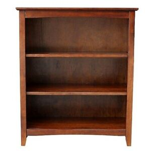 Mission-Craftsman-Shaker-3-Shelf-36-034-Solid-Hardwood-Bookcase
