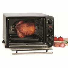 Extra-Large Convection Oven Stainless Steel Toaster Pizza Food Broil Bake 6Slice