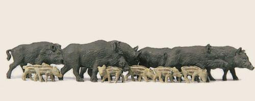 Merten 5028 Spur H0 handbemalt 12 Figuren Neu Wildschweine