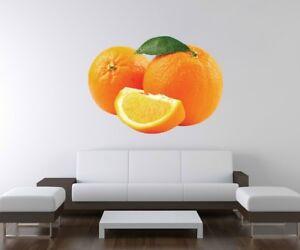 Cocina Naranja | 3d Adhesivo De Pared Naranja Cocina Frutas Hojas Mural A3d100 Ebay