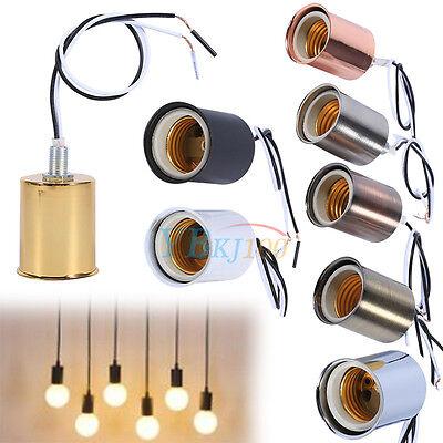 Durable E27 Ceramic Screw Round Light Bulb Lamp Socket Holder Adapter Converter
