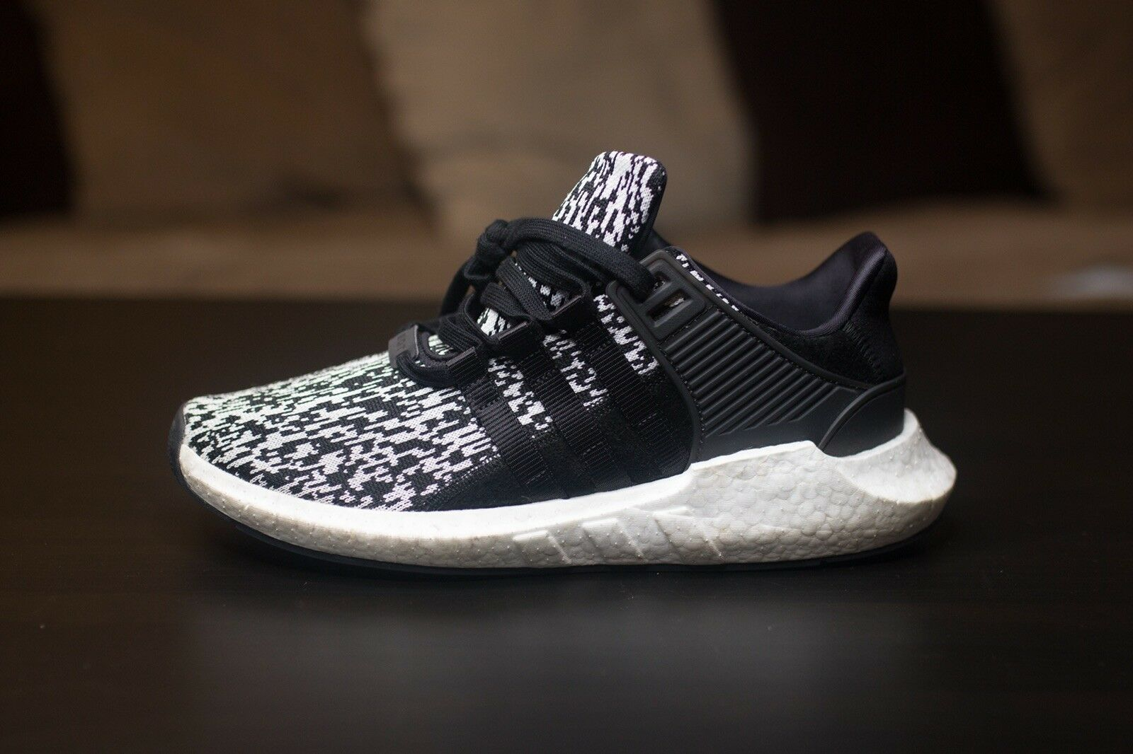Adidas EQT Support Support Support 93 17 Black Glitch Size 10.5 Authentic w Box BOOST YEEZY NMD ae4219