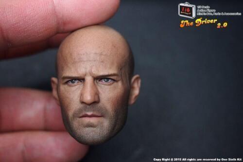 Jason Statham furieux 7 Deckard Shaw échelle 1//6 Head Sculpt navire de USA