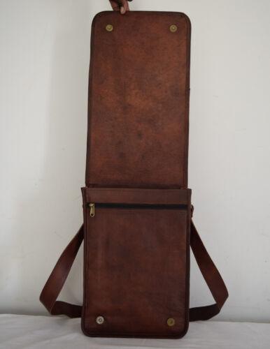 Vintage Leather Messenger Bag 13 Inch Laptop Satchel CrossBody Shoulder Bags