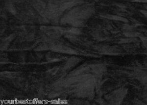 Crushed Upholstery Velvet Fabric Panne Velvet Black Velour Fabric By