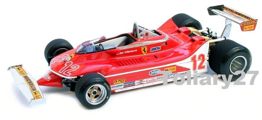 1 18 Exoto FERRARI 312 t4 nº 12 Gilles Villeneuve GP France 1979 gpc97077, RAR