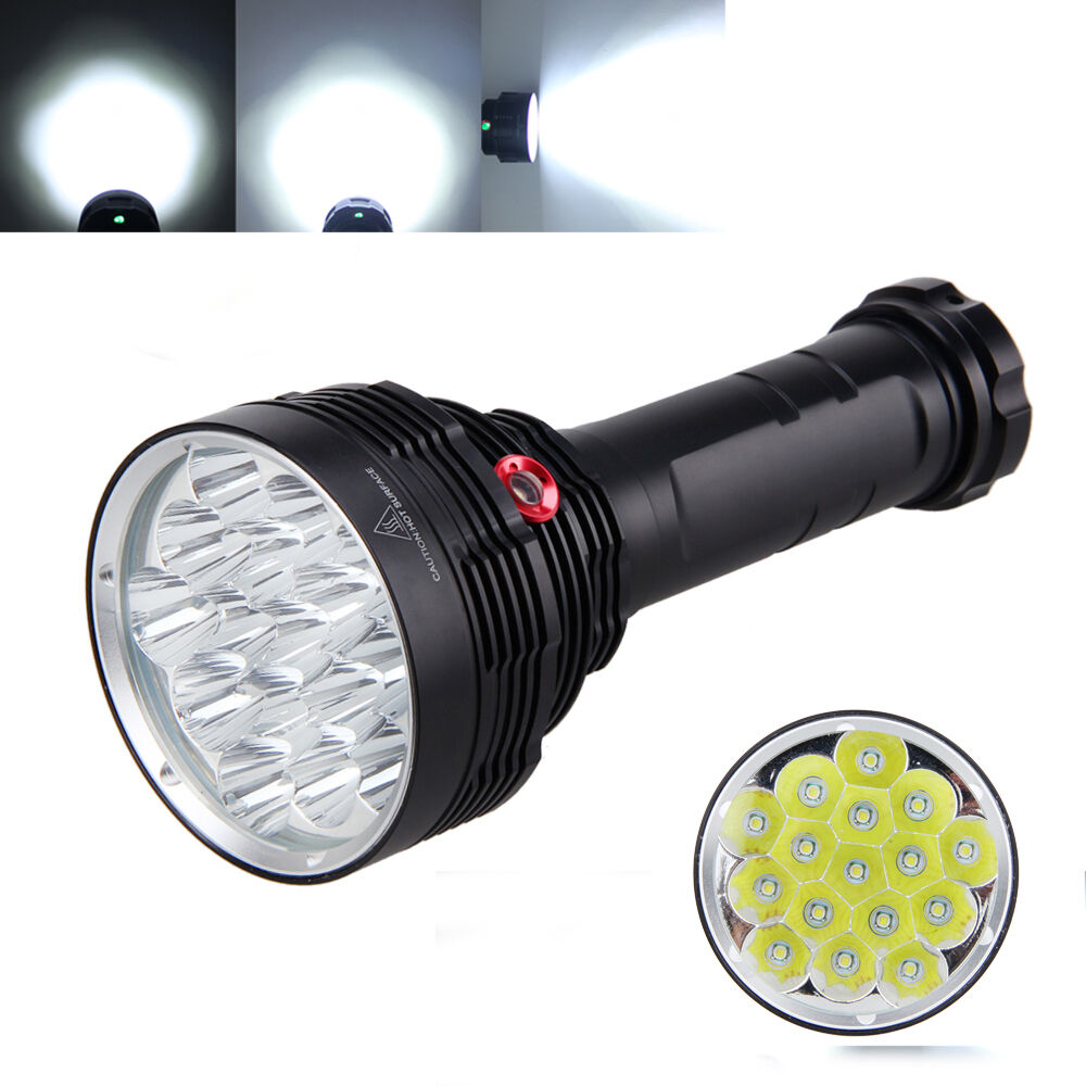 Rechargeable 16x 32000LM 16x Rechargeable XML T6 Tactical LED Flashlight Torch 6x18650+2x Charger c188ca