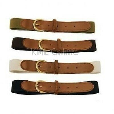 4 x Elasticated Stretch Stretchy Comfort Belt Mens Womans Trouser Jeans Skirt