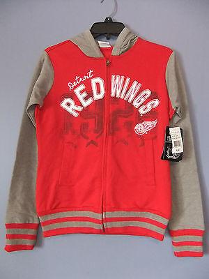 Womens ladies Detroit Red Wings full zip hoodie sweatshirt NWT (S,M,L) $65