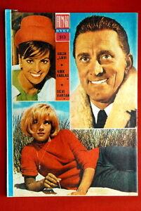 SYLVIE-VARTAN-DALIAH-LAVI-KIRK-DOUGLAS-ON-BACK-COVER-1964-VINTAGE-EXYU-MAGAZINE