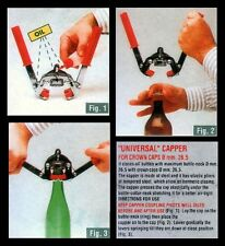 BOTTLE CAPPER KIT w/55 CROWN CAPS A HEAVY METAL ONE FOR BEER BREWING SODA MAKING