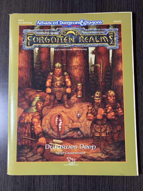 Advanced Dungeons & Dragons 2nd Ed Forgotten Realms Dwarves Deep Fr11 TSR 9300 for sale online