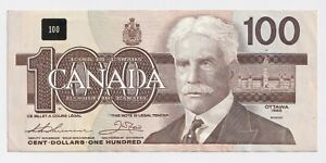 1988-100-Bank-of-Canada-Note-Thiessen-Crow-EF-AU