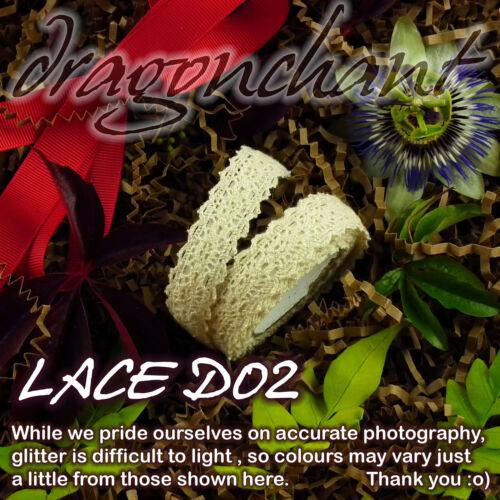 Tissu Dentelle Washi tape Ruban Coton Trim 18 mm autoadhésif Shabby chic pastel