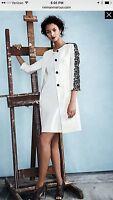 Albert Nipon Dress Suit/white//nwt/size 16/retail$299/dress Length 39/lined