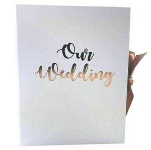 RoseGold-OUR-WEDDING-Planner-Organiser-Folder-Journal-Diary-Book-Engagment-Gift