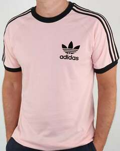 camiseta originals rosa adidas
