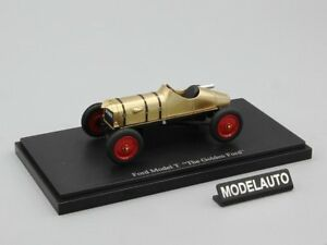 1-43-AUTOCULT-Ford-Model-T-034-The-Golden-Ford-034-gold-met-USA-1911-L-E-333-pcs